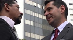 Business Men Exchanging Money or Bribery Stock Footage