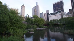 Panoramic Sunset Time-Lapse of Central Park - stock footage