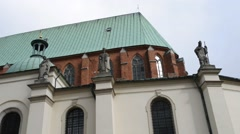 Cathedral Basilica of Assumption, Gniezno, Poland Stock Footage