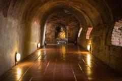 The old tunnel of Wat U-mong in Chiang Mai province, Thailand - stock photo