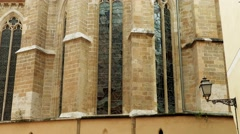 Santa Eulalia church in Palma, Mallorca, Spain Stock Footage