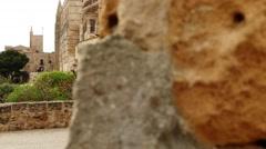 Cathedral of Santa Maria of Palma, Spain - stock footage