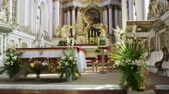 Church of St. Francis Seraphic in Poznan, Poland - stock footage