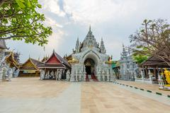 Wat Sanpa Yang Luang, beautiful temple in Lamphun, Thailand.They are public d Kuvituskuvat
