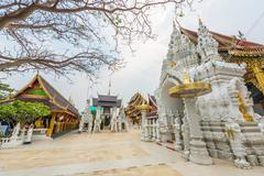 Wat Sanpa Yang Luang, beautiful temple in Lamphun, Thailand.They are public d - stock photo