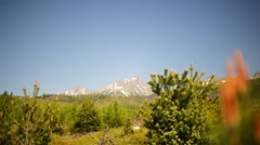 Tatra Mountains in Slovakia - stock footage