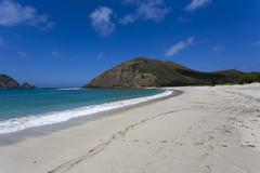 Beautiful beach in the South of the Indonesian island Lombok Stock Photos