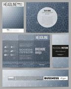 Set of templates for presentation, brochure, flyer or booklet. Abstract floral Stock Illustration