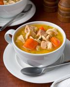 Chicken Noodle Soup Stock Photos