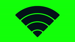 Animated wireless network icon Stock Footage