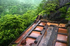 Beautiful vew from Sigiriya Lion Rock, Sri Lanka Stock Photos
