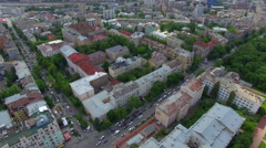 Aerial view of downtown Kiev - stock footage