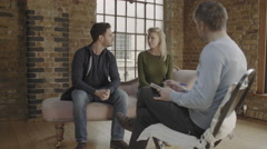Marriage Therapy, Couple Talking to Counselor Stock Footage