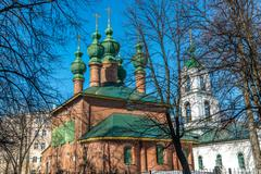 Church of the Annunciation was built in 17th century in Yaroslavl, Russia - stock photo