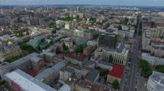 City center. Flight over Kiev - stock footage