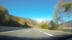 Highway Time Lapse Autumn Stock Footage