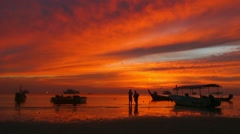 Koh Nang Yuan near Koh Tao, Gulf of Thailand, Thailand, Asia - stock footage