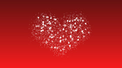 Hearts in love St. Valentine's Day Stock Footage
