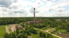 Thermal power plant.Aerial view Stock Footage