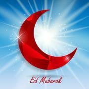 Background for Muslim Community Festival Ramadan Rareem.  Eid Mu - stock illustration
