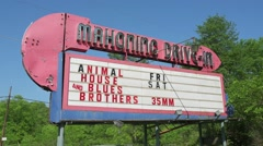 Drive In Movie Marquee - stock footage