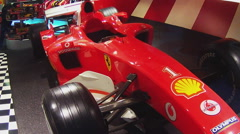 Ferrari Formula One Race Car On Display In Ferrari Store- Beverly Hills CA - stock footage