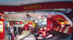 Entrance To Ferrari Store- Beverly Center Mall- Beverly Hills CA Stock Footage
