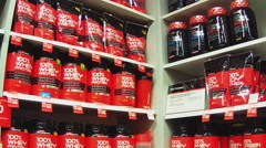Supplements To Enhance Workout Muscle Building On Shelf - stock footage