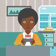 Addicted video gamer Stock Illustration