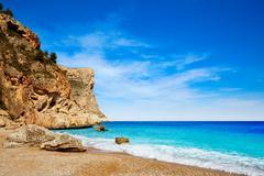 Cala del Moraig beach in Benitatxell of Alicante Stock Photos
