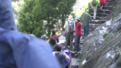 Yosemite National Park, Alive with hikes Stock Footage