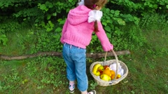 Girl child represents the actress. - stock footage