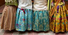 Falleras dress from Fallas popular Valencia Stock Photos