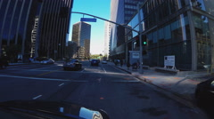 POV Driving Avenue Of The Stars- Century City- Beverly Hills CA Stock Footage