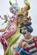 Fallas fest popular figures will burn in March 19 Stock Photos
