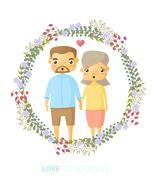 Love generation greeting card - stock illustration