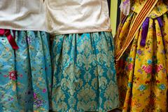 falleras dress from Fallas popular Valencia - stock photo