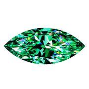 Green Emerald Marquise Stock Illustration