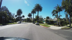 Driving In Residential Suburban Area Of Culver City California Stock Footage