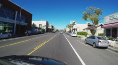 POV Driving In Culver City California Stock Footage