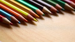 Pencil coloring book - stock footage