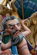 Fallas fest popular figures will burn in March 19 Stock Photos