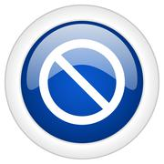 access denied icon, circle blue glossy internet button, web and mobile app il - stock illustration