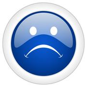 Cry icon, circle blue glossy internet button, web and mobile app illustration Stock Illustration