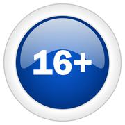 Adults icon, circle blue glossy internet button, web and mobile app illustrat Stock Illustration