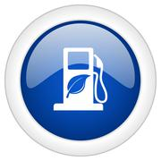 Biofuel icon, circle blue glossy internet button, web and mobile app illustra Stock Illustration