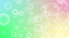 Flickering Bokeh Bubbles sparkling Particles random motion abstract backgroun Stock Footage