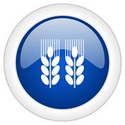 Agricultural icon, circle blue glossy internet button, web and mobile app ill Stock Illustration