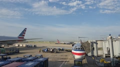 Time lapse of airport activity at O'Hare International Stock Footage