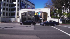 Sony Pictures Studios Entrance Gate- Culver City California Stock Footage